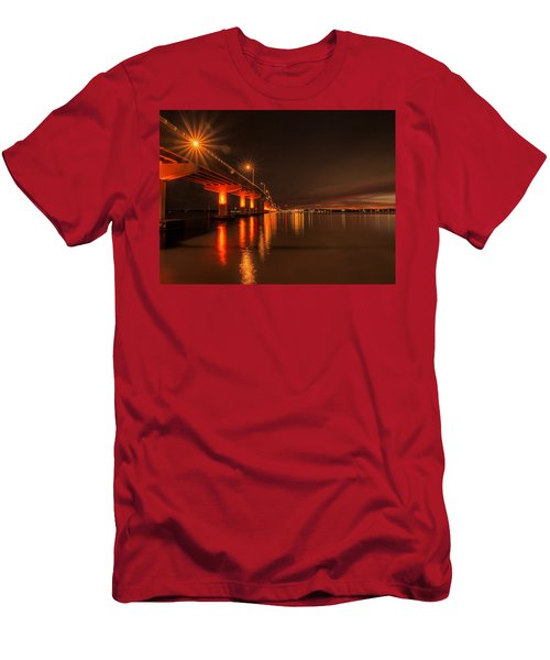 Night Time Reflections At The Bridge Men's T-Shirt (Athletic Fit)