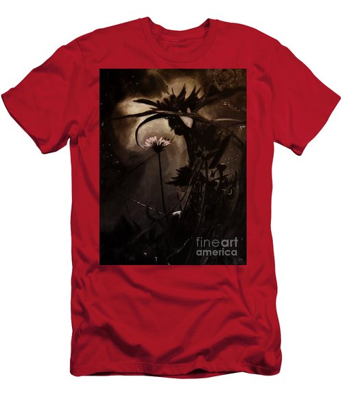 Men's T-Shirt (Slim Fit) featuring the painting Nightflower by Vanessa Palomino