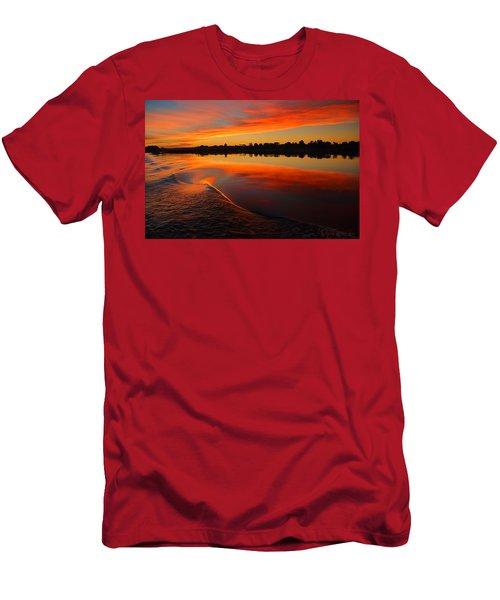 Nile Sunset Men's T-Shirt (Athletic Fit)