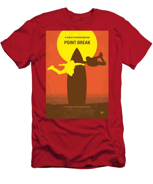 No455 My Point Break Minimal Movie Poster Men's T-Shirt (Athletic Fit)