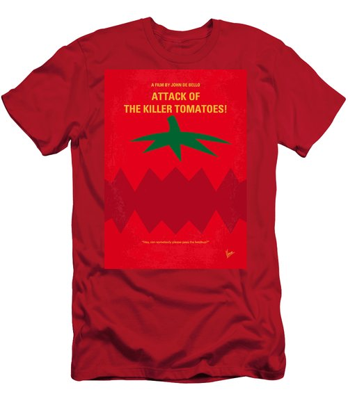 No499 My Attack Of The Killer Tomatoes Minimal Movie Poster Men's T-Shirt (Athletic Fit)