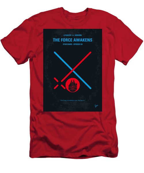 No591 My Star Wars Episode Vii The Force Awakens Minimal Movie Poster Men's T-Shirt (Athletic Fit)