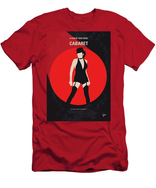 Men's T-Shirt (Slim Fit) featuring the digital art No742 My Cabaret Minimal Movie Poster by Chungkong Art