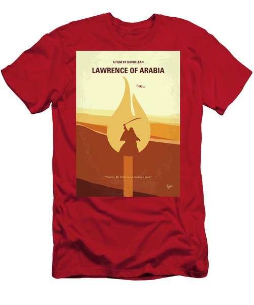 Men's T-Shirt (Slim Fit) featuring the digital art No772 My Lawrence Of Arabia Minimal Movie Poster by Chungkong Art