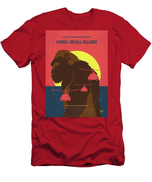No799 My Skull Island Minimal Movie Poster Men's T-Shirt (Athletic Fit)