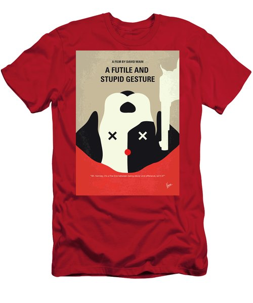 No893 My A Futile And Stupid Gesture Minimal Movie Poster Men's T-Shirt (Athletic Fit)