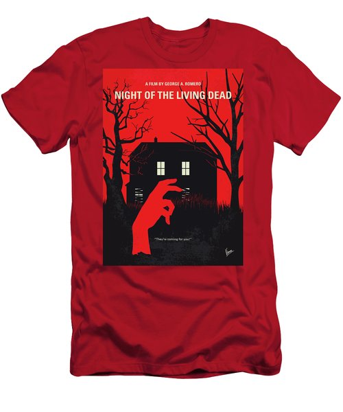No935 My Night Of The Living Dead Minimal Movie Poster Men's T-Shirt (Athletic Fit)