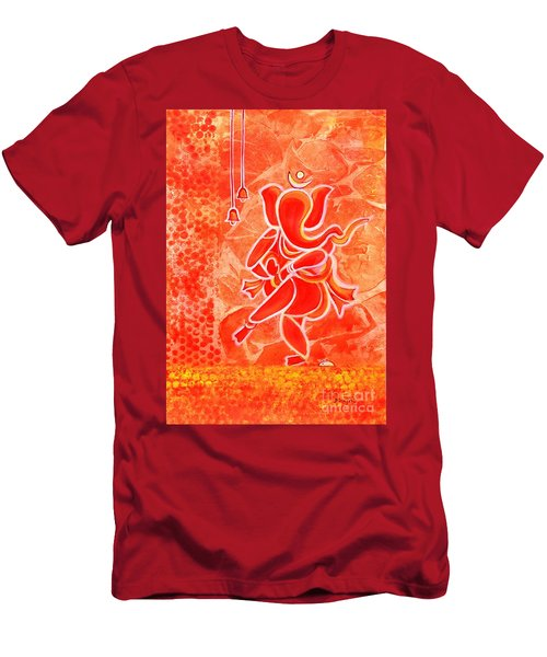 Nritya Ganesha- Dancing God Men's T-Shirt (Athletic Fit)