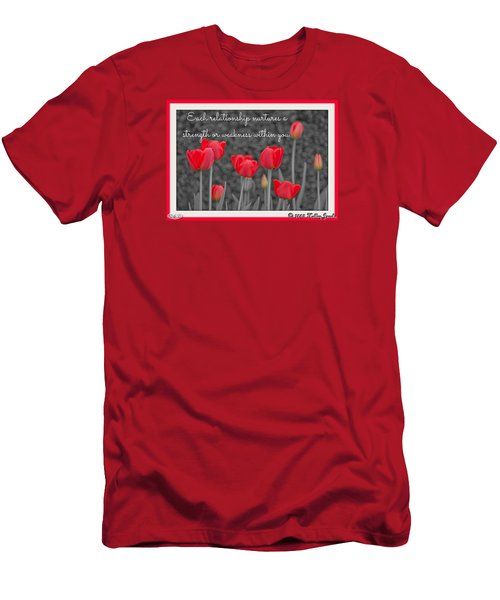 Men's T-Shirt (Slim Fit) featuring the digital art Nurtures Strength by Holley Jacobs