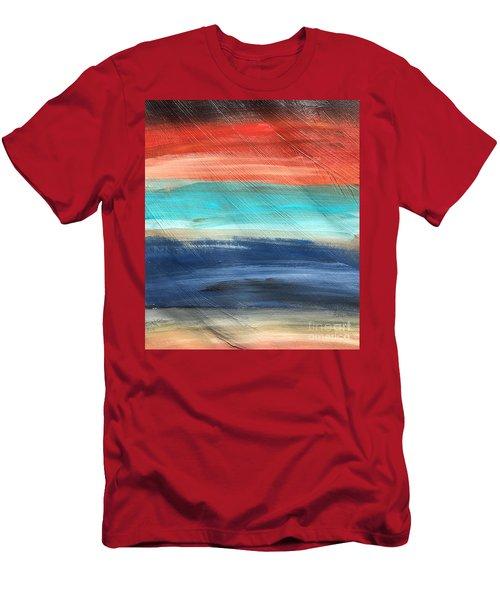 Oak Creek #27 Southwest Landscape Original Fine Art Acrylic On Canvas Men's T-Shirt (Athletic Fit)