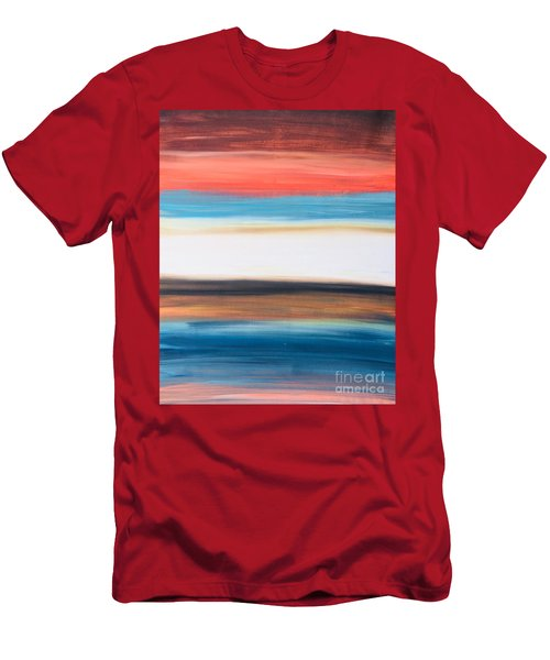 Oak Creek #29 Southwest Landscape Original Fine Art Acrylic On Canvas Men's T-Shirt (Athletic Fit)