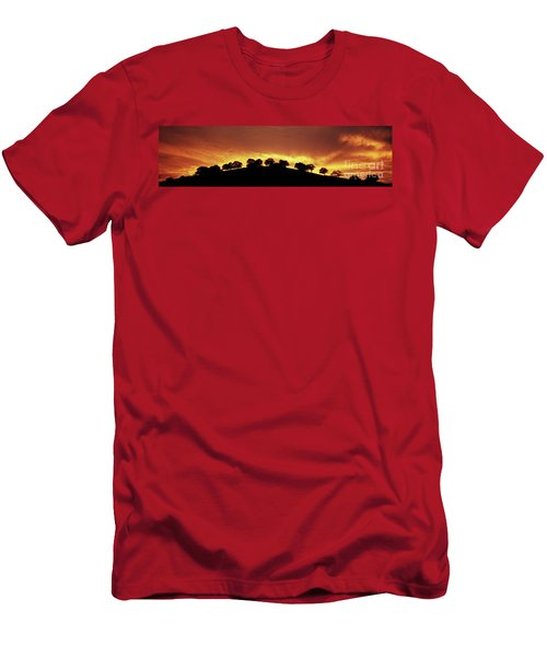 Men's T-Shirt (Slim Fit) featuring the photograph Oaks On Hill At Sunset by Jim and Emily Bush