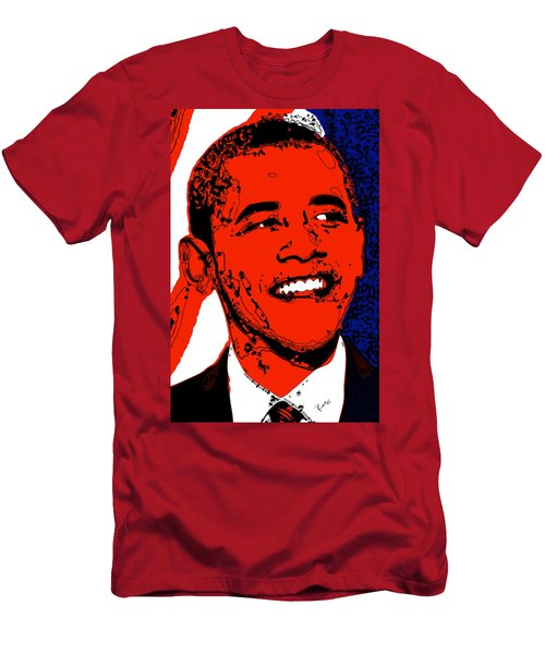 Men's T-Shirt (Slim Fit) featuring the digital art Obama Hope by Rabi Khan