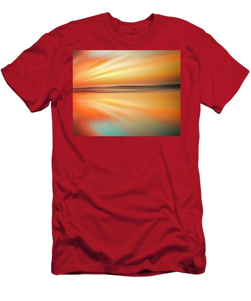 Men's T-Shirt (Athletic Fit) featuring the photograph Ocean Beach Sunset Abstract by Gigi Ebert
