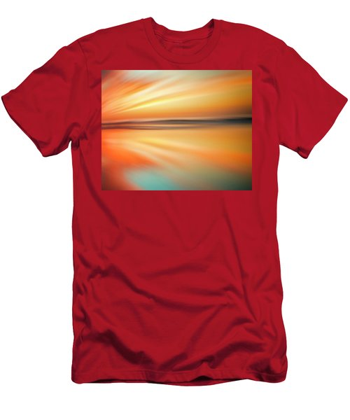 Ocean Beach Sunset Abstract Men's T-Shirt (Athletic Fit)