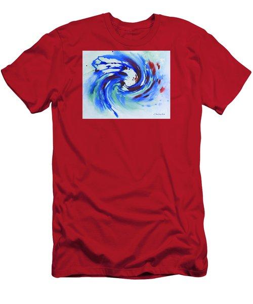 Ocean Wave Watercolor Men's T-Shirt (Athletic Fit)