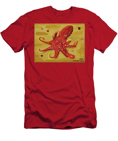 Octopus Men's T-Shirt (Slim Fit) by Anthony LaRocca