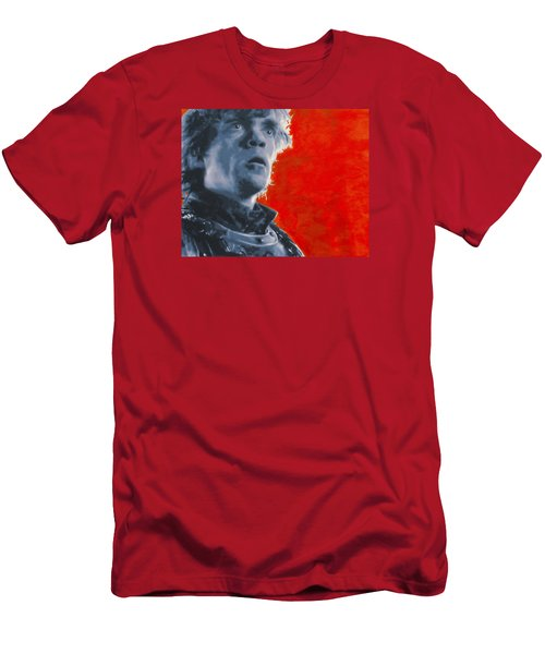 Men's T-Shirt (Slim Fit) featuring the painting Tyrion Lannister by Luis Ludzska