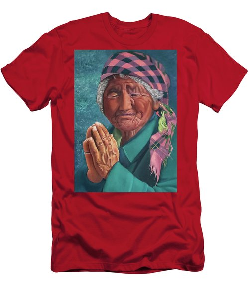 Oh Great Spirit, Hear My Prayer Men's T-Shirt (Athletic Fit)