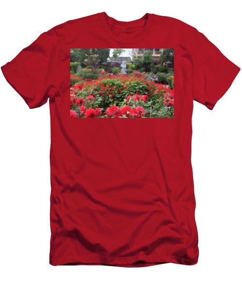Oil Digital Flowers Vietnam  Men's T-Shirt (Athletic Fit)