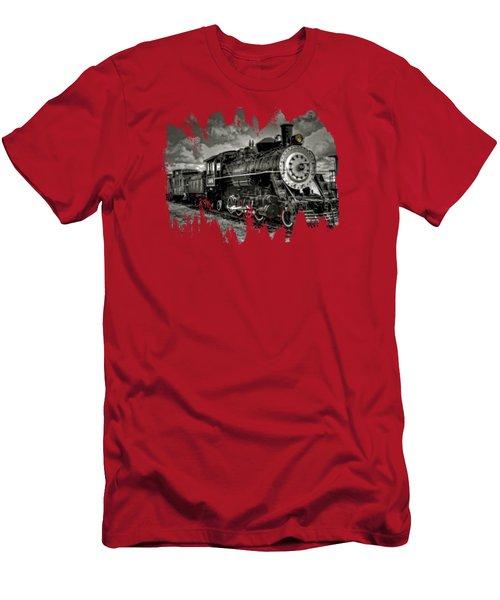 Old 104 Steam Engine Locomotive Men's T-Shirt (Athletic Fit)