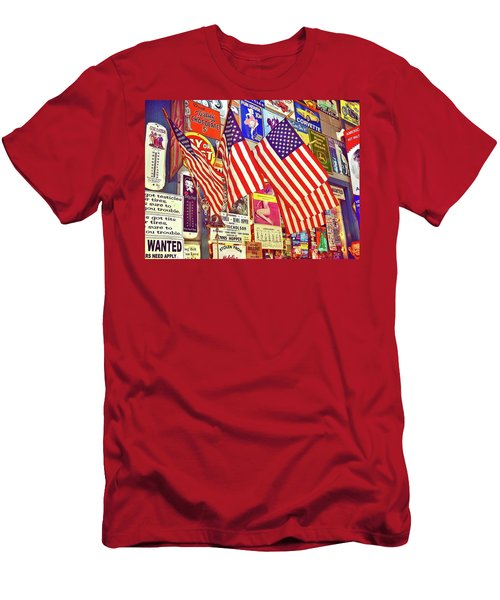 Men's T-Shirt (Slim Fit) featuring the photograph Old Glory by Joan Reese