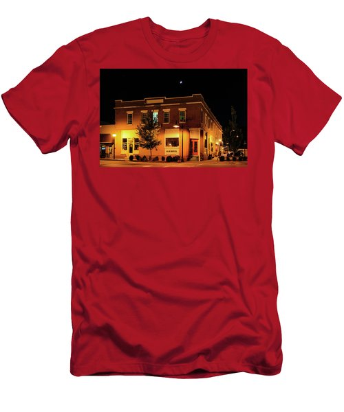 Old Hotel Moonlight Men's T-Shirt (Slim Fit) by Dale R Carlson