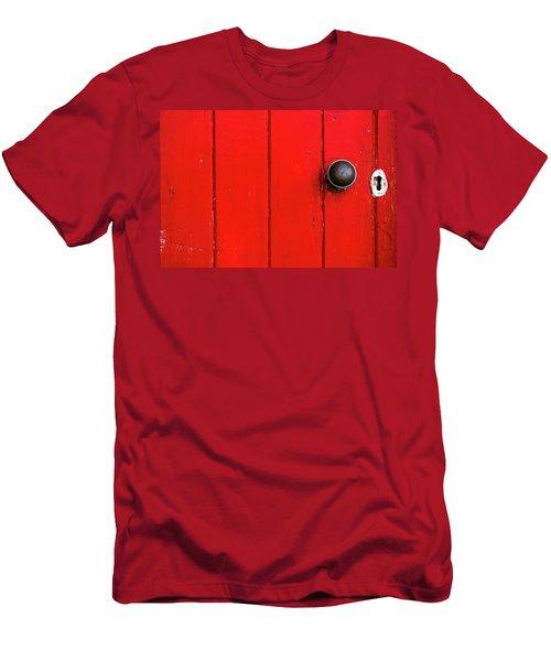 Old Red Door  Men's T-Shirt (Athletic Fit)