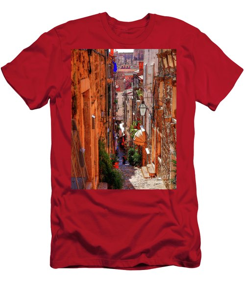 Old Town Dubrovniks Inner Passages Men's T-Shirt (Athletic Fit)