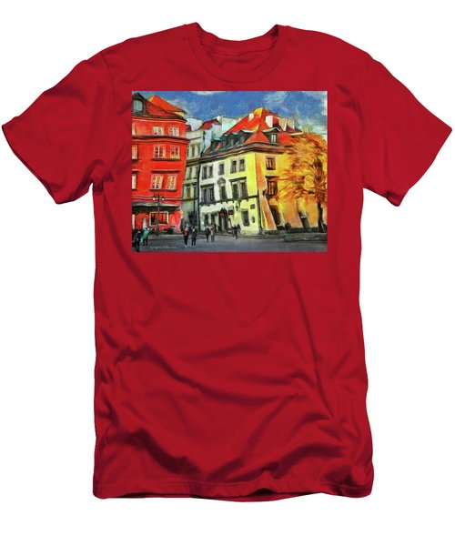 Old Town In Warsaw # 27 Men's T-Shirt (Athletic Fit)