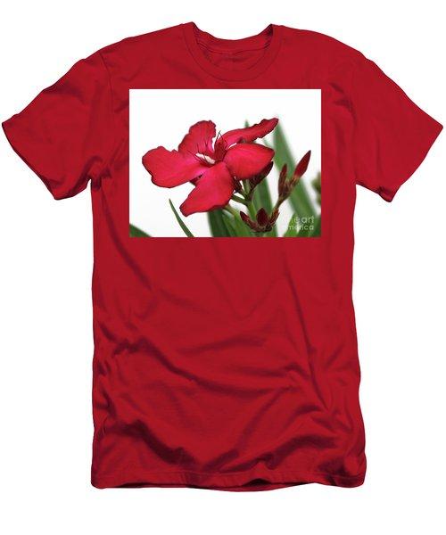 Oleander Blood-red Velvet 2 Men's T-Shirt (Athletic Fit)