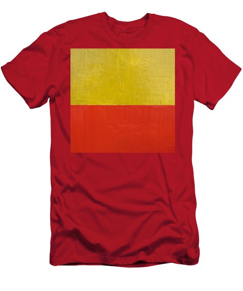 Olive Fire Engine Red Men's T-Shirt (Athletic Fit)