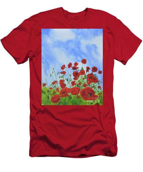 Olivia's Poppies Men's T-Shirt (Athletic Fit)