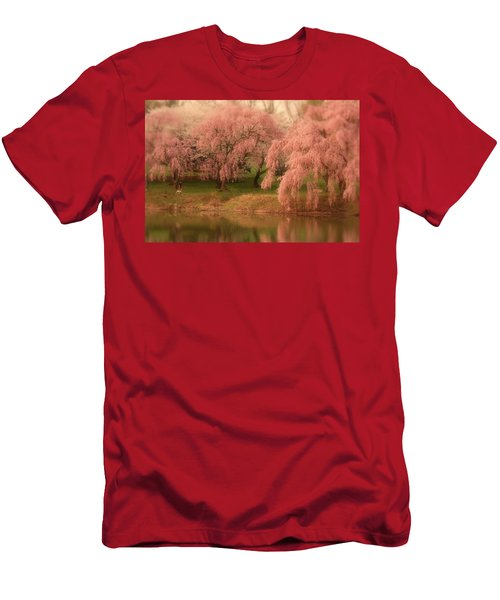 Men's T-Shirt (Athletic Fit) featuring the photograph One Spring Day - Holmdel Park by Angie Tirado