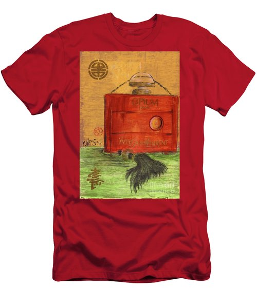 Men's T-Shirt (Slim Fit) featuring the painting Opium by P J Lewis