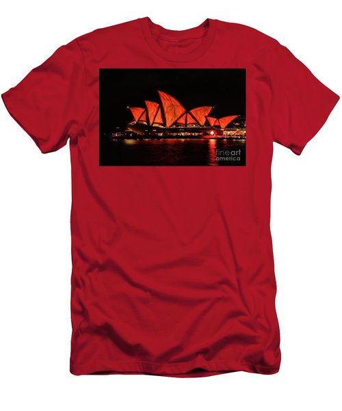Orange Blast Men's T-Shirt (Slim Fit) by Diana Mary Sharpton