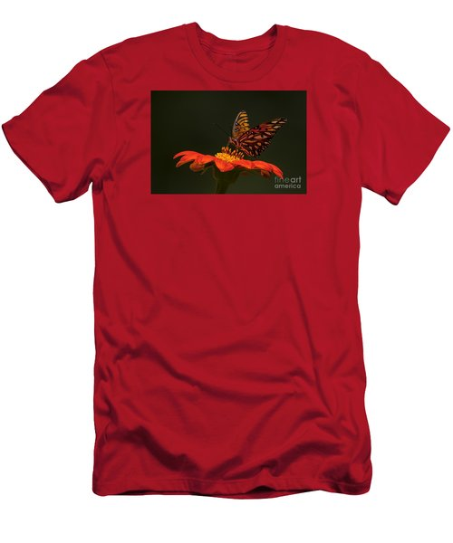 Men's T-Shirt (Slim Fit) featuring the photograph Orange Bliss by Barbara Bowen