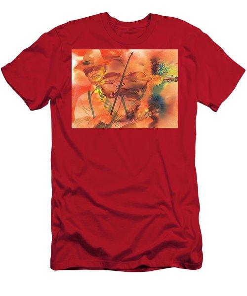 Orange Blossom Special Men's T-Shirt (Slim Fit) by Tara Moorman