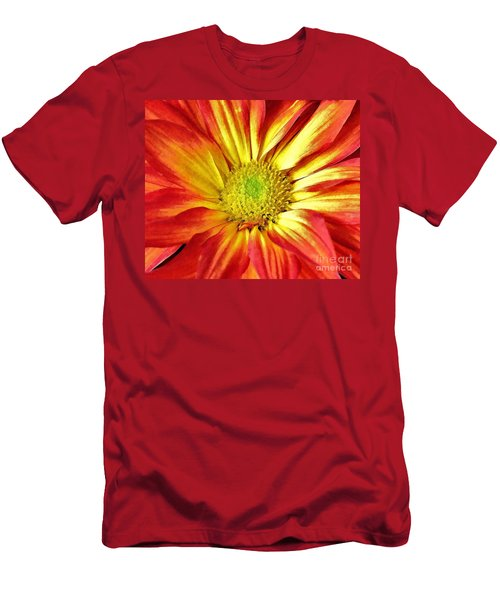 Men's T-Shirt (Slim Fit) featuring the photograph Orange Burst by Allen Beatty