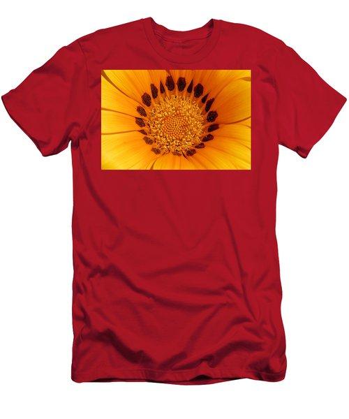 Orange Burst - Daisy Men's T-Shirt (Athletic Fit)