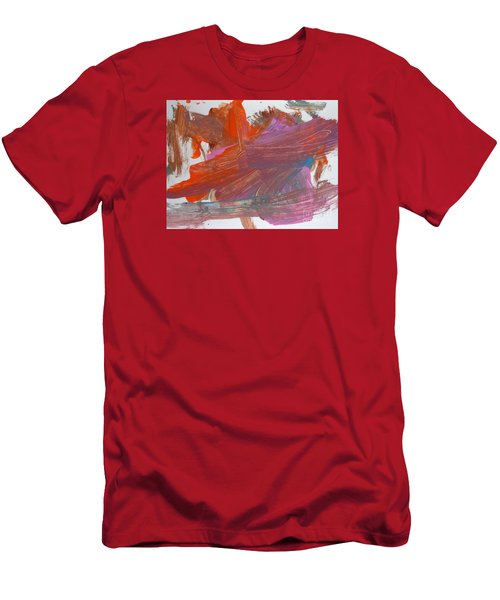 Men's T-Shirt (Slim Fit) featuring the painting Orange By Emma by Fred Wilson