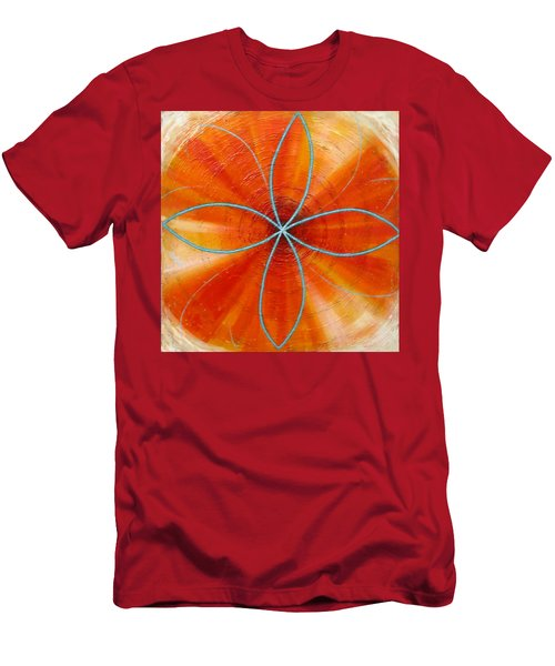 Orange Chakra Men's T-Shirt (Athletic Fit)