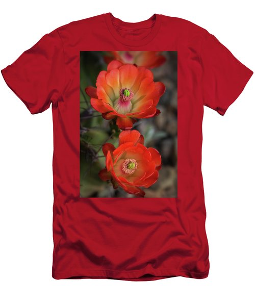 Men's T-Shirt (Slim Fit) featuring the photograph Orange Claret Dreams  by Saija Lehtonen