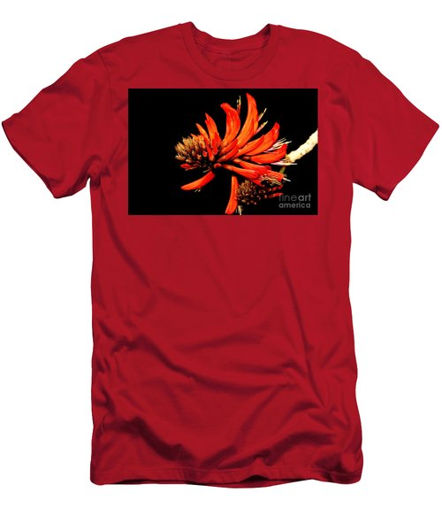 Men's T-Shirt (Slim Fit) featuring the photograph Orange Clover II by Stephen Mitchell
