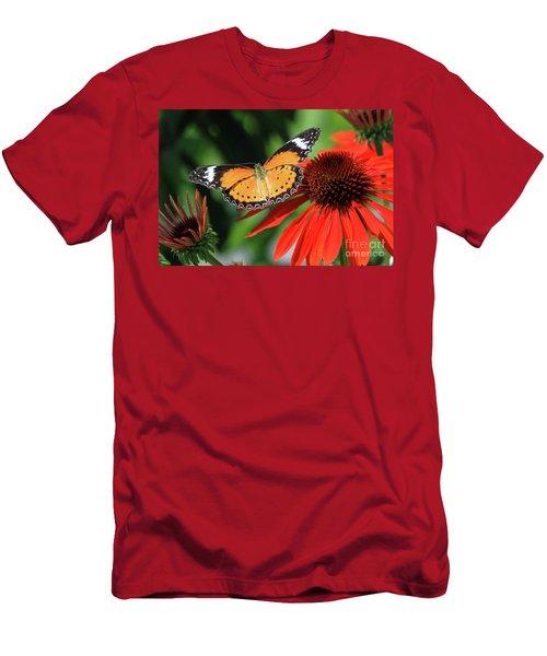 Orange Lacewing Men's T-Shirt (Athletic Fit)