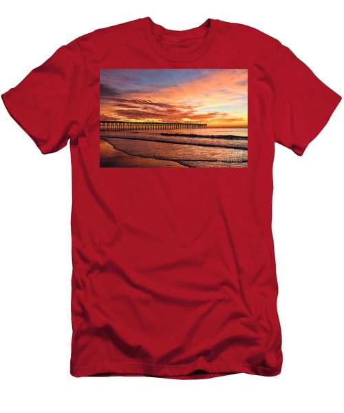 Orange Pier Men's T-Shirt (Athletic Fit)