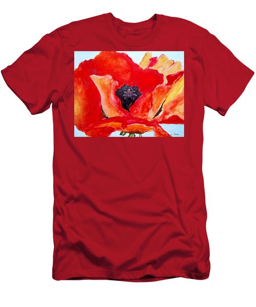 Orange Poppy Men's T-Shirt (Athletic Fit)