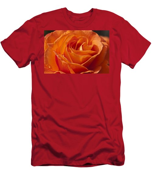Orange Rose 2 Men's T-Shirt (Athletic Fit)