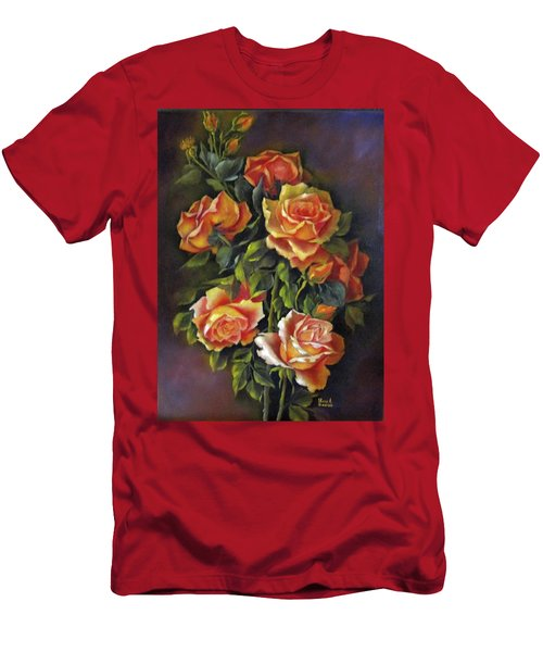 Orange Roses Men's T-Shirt (Slim Fit) by Katia Aho