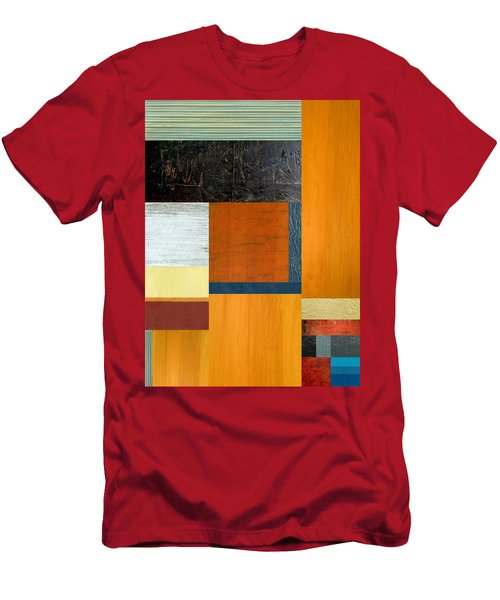 Men's T-Shirt (Slim Fit) featuring the painting Orange Study With Compliments 2.0 by Michelle Calkins